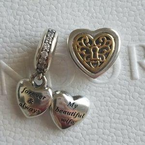 PANDORA Dangle Charms My Beautiful Wife heart Love